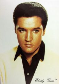 Elvis Presley - 'Black Shirt' Postcard
